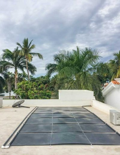 Calentador solar en azotea