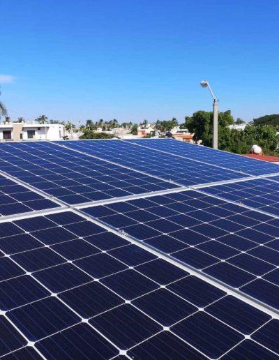 Paneles solares en azotea